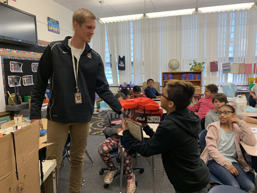 Elementary Students Receive Shoes