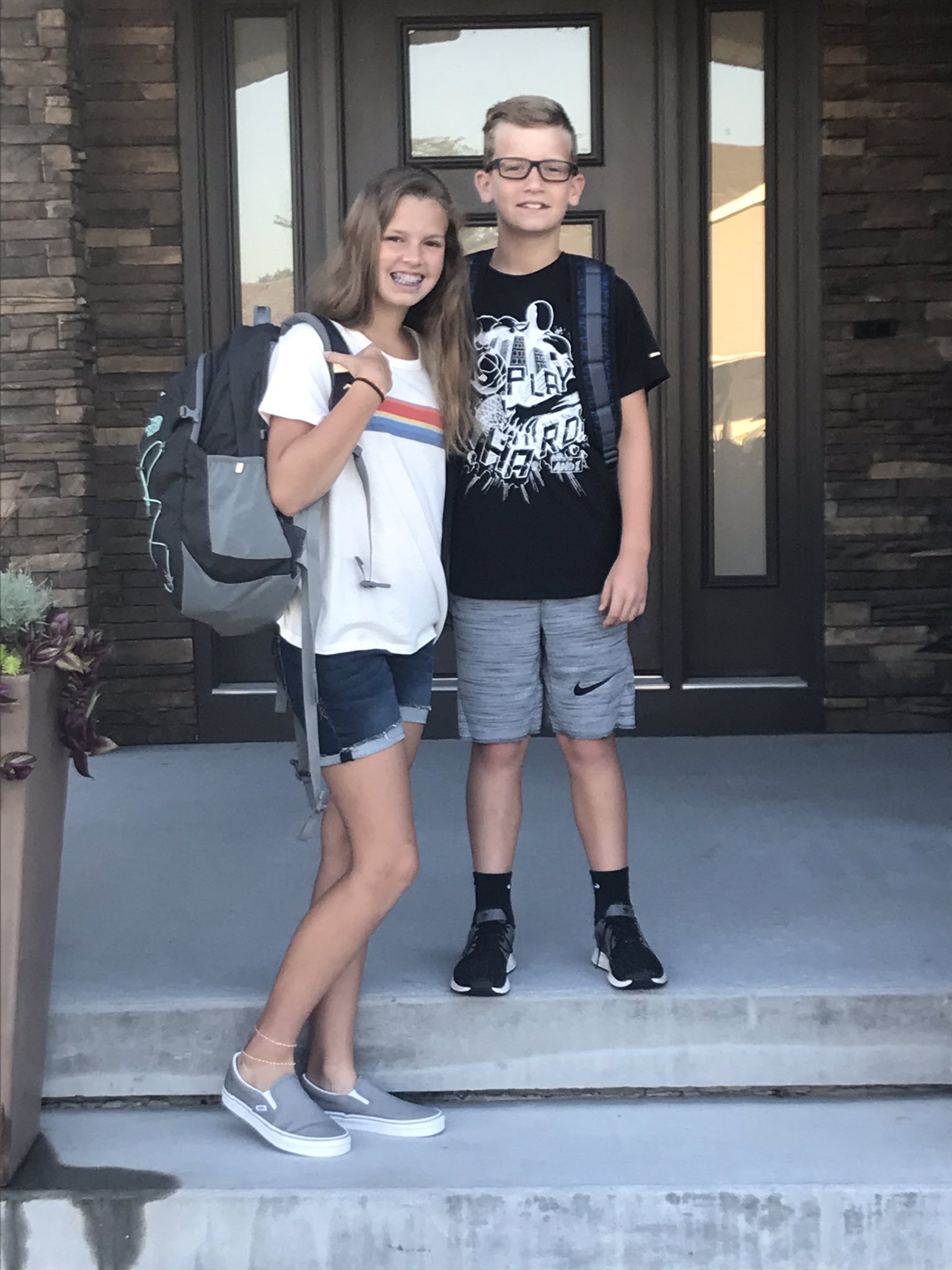 Students first day of school