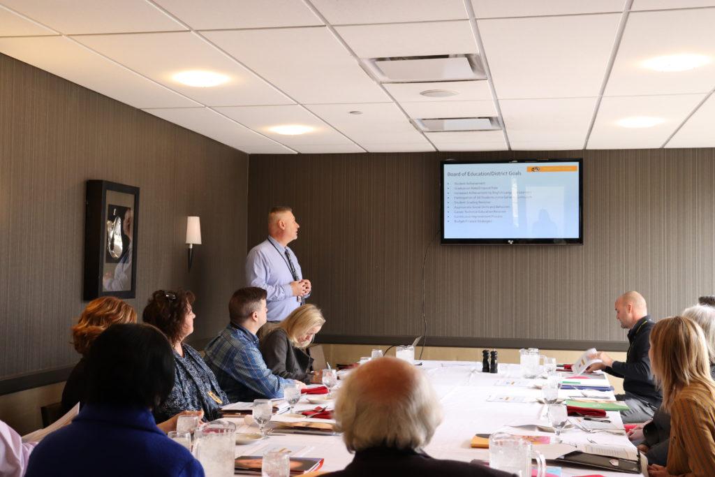 Mark Shepard giving presentation