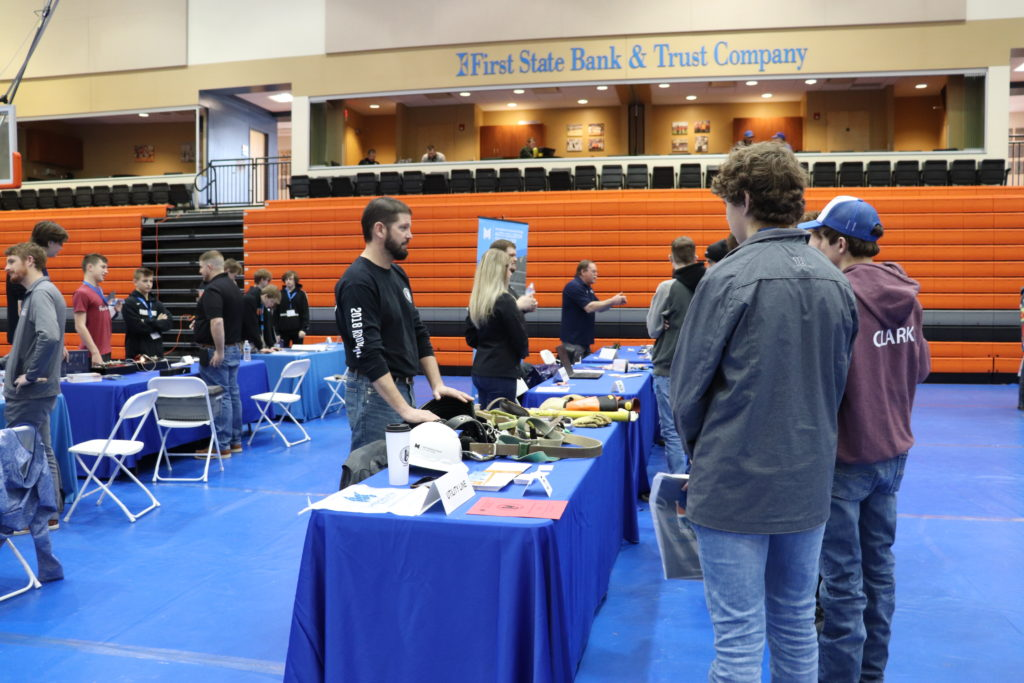 students speaking with MCC